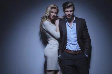 model couple posing